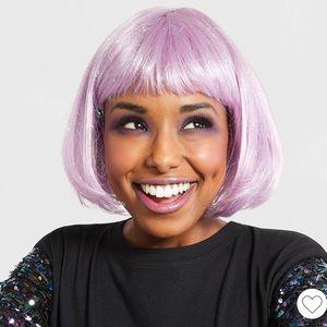 Lavender Purple Shimmer Bob Wig
